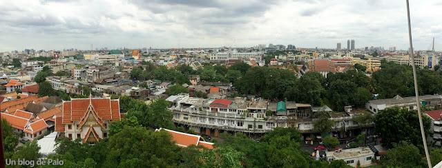 Golden Mount - Montaña Dorada - Vistas Bangkok (Tailandia)