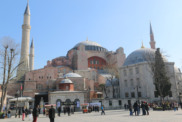 The Church of Holy Wisdom or also known as Hagia Sophia at Sultanahmet in Istanbul, Turkey