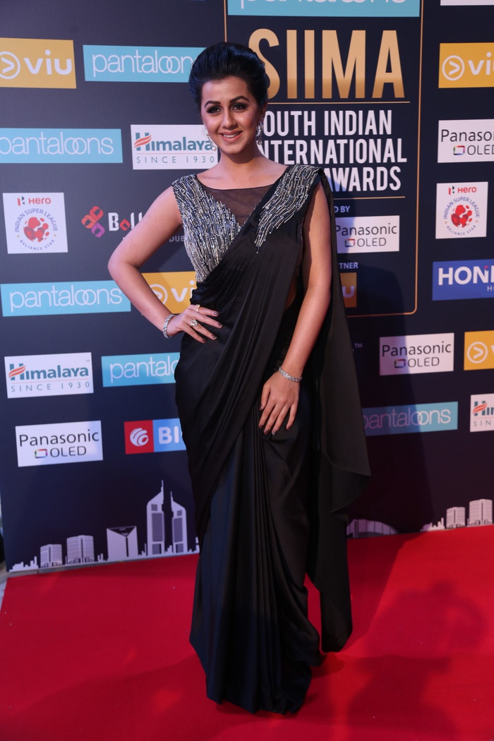 South Indian Actress Nikki Galrani Photos at Siima Awards 2018