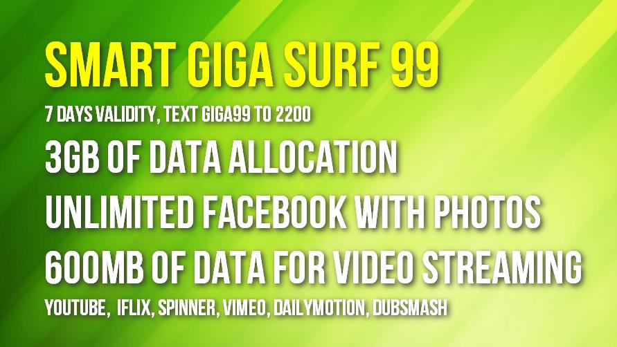 Smart Giga Surf 99 Promo