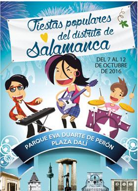 Fiestas populares del Pilar 2016 en los barrios de Salamanca y del Pilar