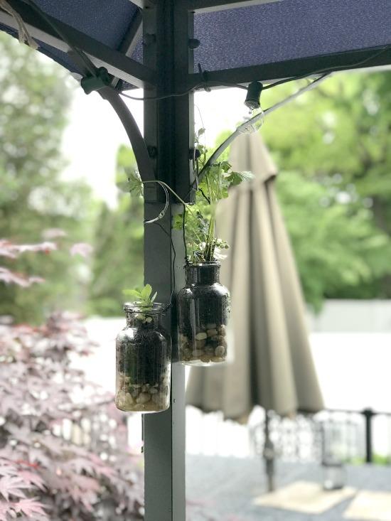 DIY Hanging terrarium planters for the patio
