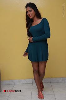 Telugu Actress Prasanthi Stills in Green Short Dress at Swachh Hyderabad Cricket Press Meet  0104.JPG