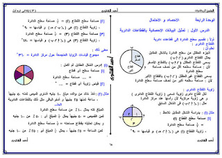 حمل مذكرة المتميز احمد الشنتوري في الرياضيات للصف السادس الابتدائي الترم الثاني