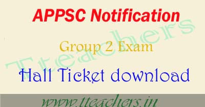 AP Group 2 hall ticket 2017 appsc group2 hall tickets results
