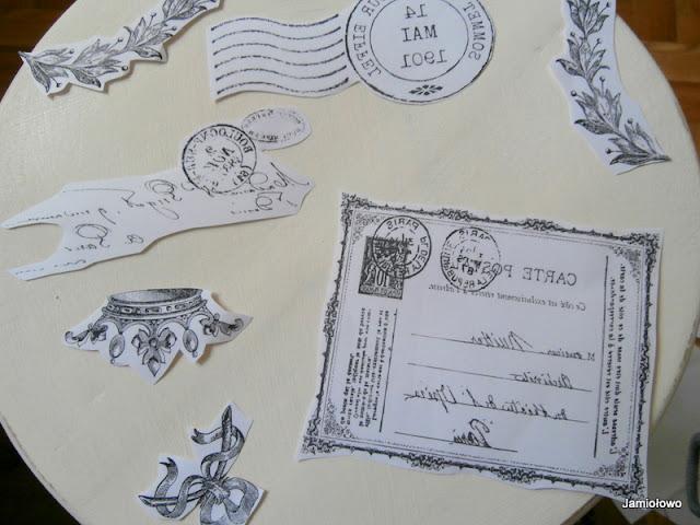 wydrukowanie i przygotowanie napisów i obrazków do transferu