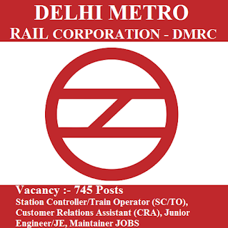 Delhi Metro Rail Corporation, DMRC, Delhi, 10th, ITI, Train Operator, TO, CRA, Junior Engineer, JE, Maintainer, freejobalert, Sarkari Naukri, Latest Jobs, Hot Jobs, dmrc logo