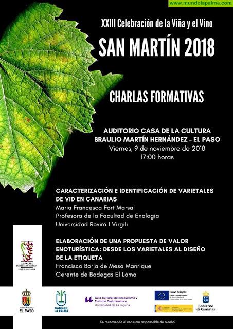 El Paso acoge las charlas formativas de VINOS DE LA PALMA con motivo del San Martín 2018
