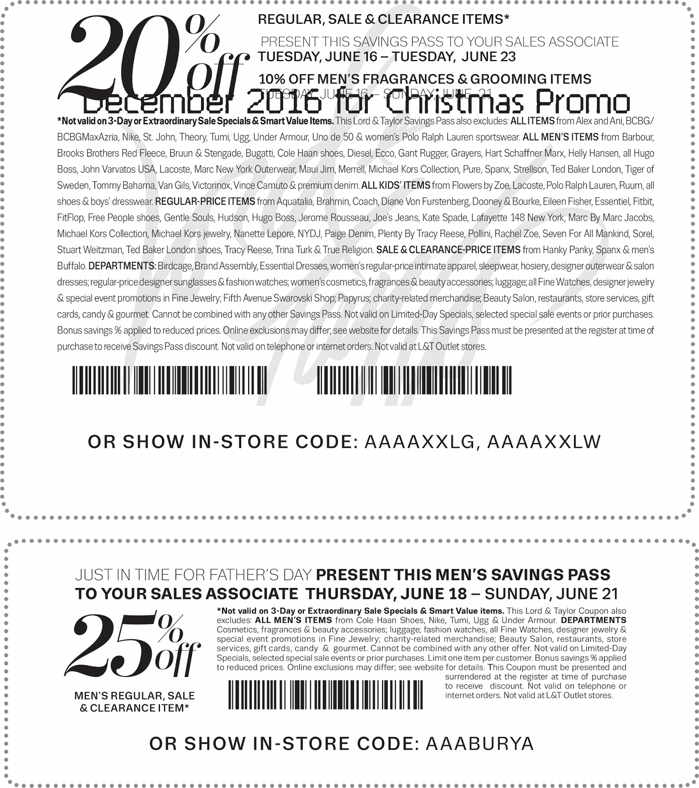Lord and taylor store coupons printable 2018