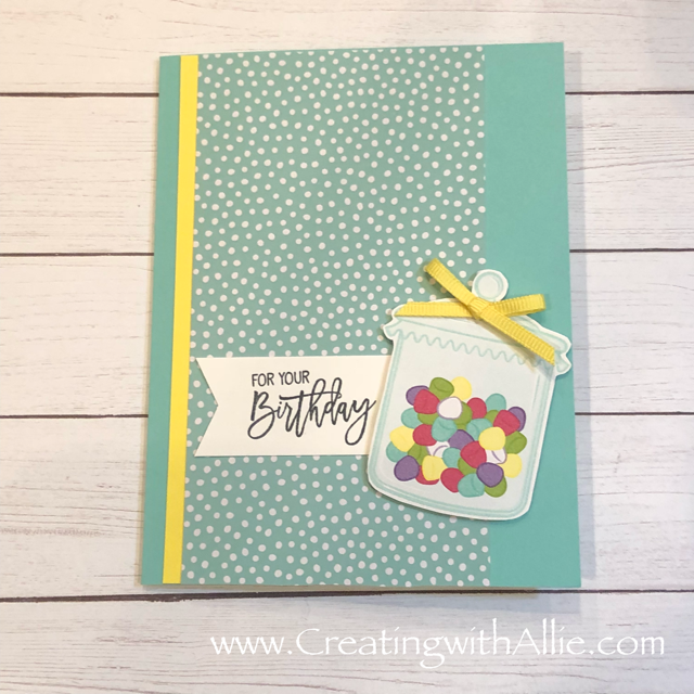 Check out the video tutorial showing you how to make a Birthday card very easy!! You'll love how quick and easy this is to make!  www.creatingwithallie.com #stampinup #alejandragomez #creatingwithallie #videotutorial #cardmaking #papercrafts #handmadegreetingcards #fun #creativity #makeacard #sendacard #stampingisfun #sharewhatyoulove #handmadecards #friendshipcards