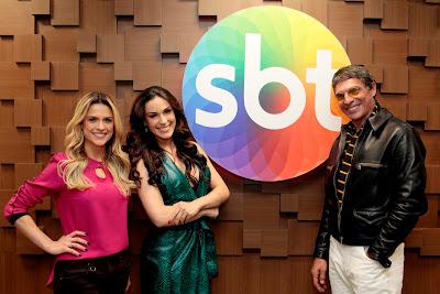 Beca Milano, Nadja Haddad e Olivier - Crédito da imagem: Lourival Ribeiro/SBT