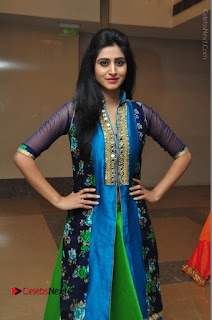 Actress Model Shamili Sounderajan Pos in Desginer Long Dress at Khwaaish Designer Exhibition Curtain Raiser  0055.JPG