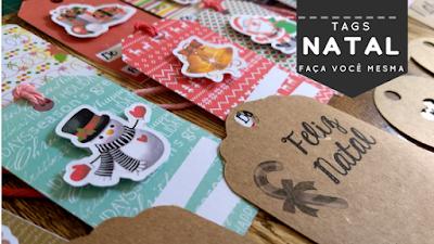 Tags de Natal - faça você mesma - DIY!