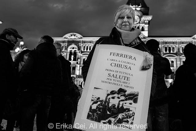 Trieste manifestazione ferriera