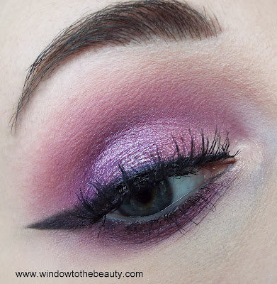 simple purple pink makeup
