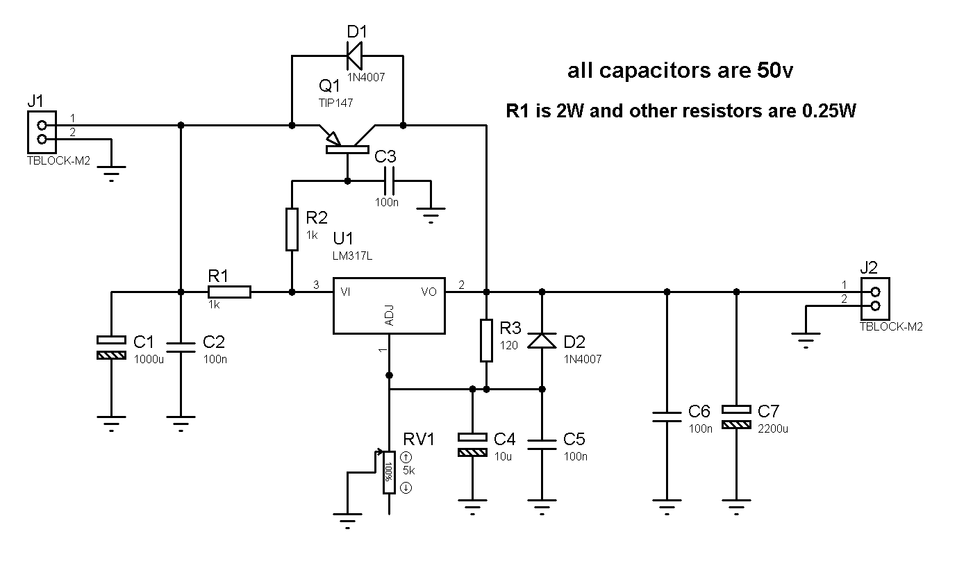 5a adjustable power supply with lm317 electronic circuits diagram