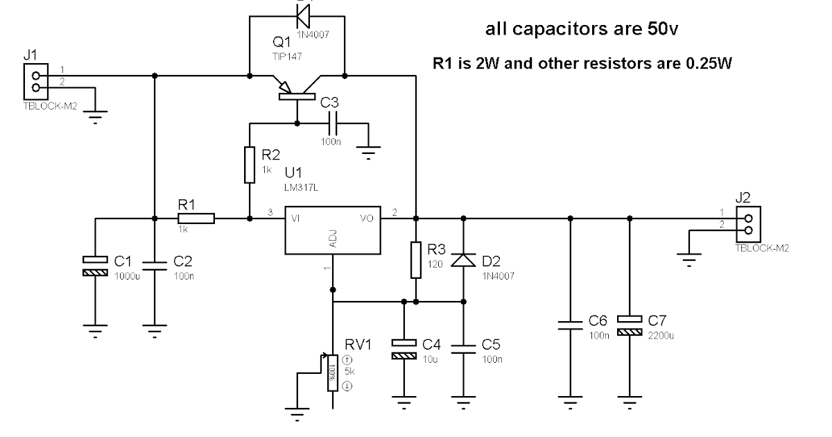 Build a 1 2 36V 5A Adjustable Power Supply with LM317