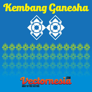 Free Download Vector Motif Kembang Ganesha
