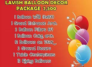Lavish Balloon Decor Package 7,500