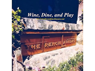 The entrance to the French Laundry opens into gardens