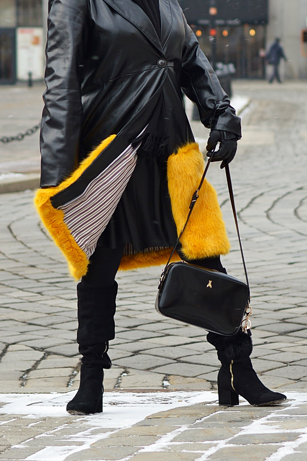 Fashion Inspiration, Winter Fashion, Yellow Fur