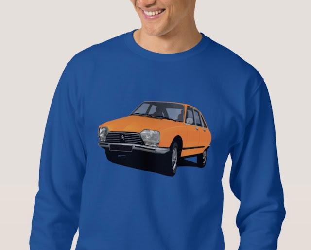 Retro Citroën GS t-paita