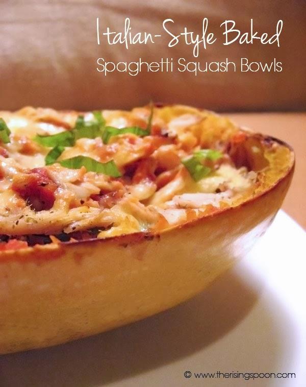 Italian Style Baked Spaghetti Squash Bowls