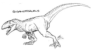 Giganotosaurus Carolinii Coloring Pages For Kids