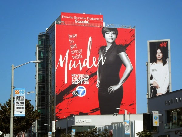 Giant How to Get Away with Murder billboard Sunset Strip