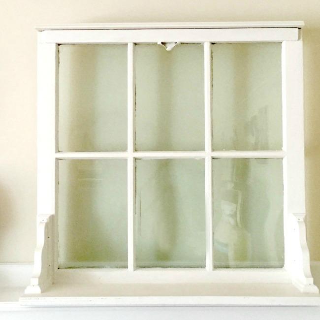 finished window with a shelf