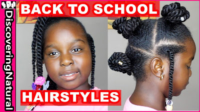 Easy Back to School Hairstyle - 3 styles in 1 - DiscoveringNatural