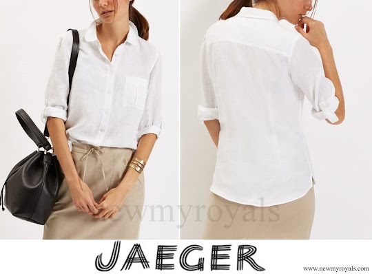 Kate Middleton wore Jaeger Linen Classic Blouse