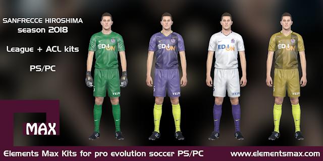 Sanfrecce Hiroshima PES Kits 2018