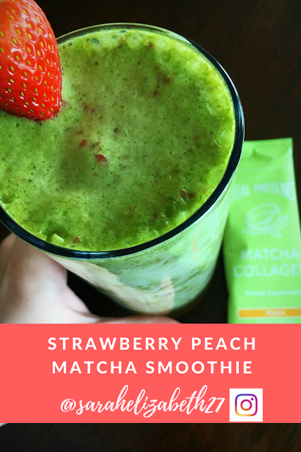 matcha, matcha smoothie, vital proteins, vital proteins recipes, sarah griffith