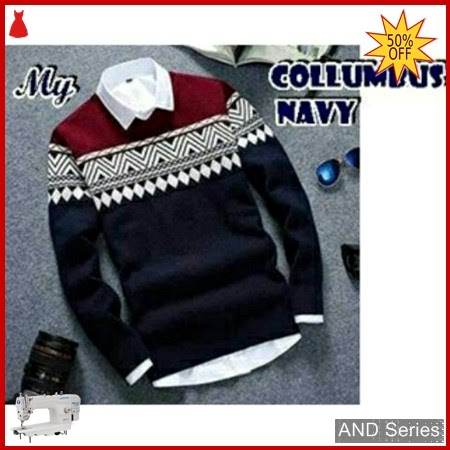 AND180 Sweater Pria Columbus Biru Navy BMGShop