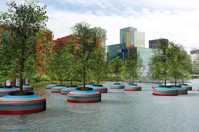 Rotterdam plants floating trees