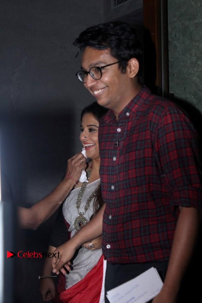 Vidya Balan Photos in Saree at Live in Conversation With Renil Abraham