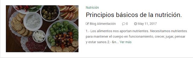 Principios básicos de la nutrición.