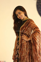 Lasya looks super cute in black choli Saree at Raja Meru Keka Press Meet ~  Exclusive 089.JPG