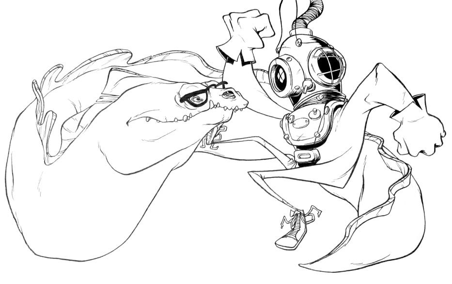 Tom Robinson To Kill A Mockingbird Jury Cartoon Sketch