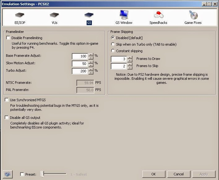 Bery : PCSX 60FPS Settings [ all pc and laptop, GT4