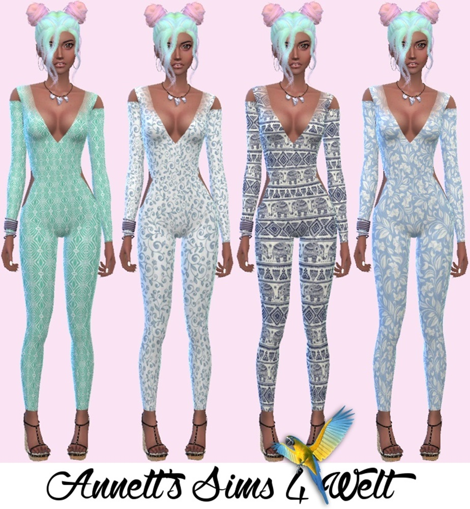 Annetts Sims 4 Welt: Accessory Catsuits