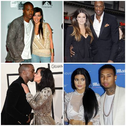 why the kardashians date only black guys