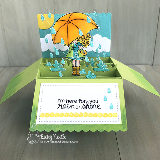 I'm Here for You by Becky features Loads of Blooms, Spring Showers, Newton's Rainy Day, Peppermint, and Land Borders by Newton's Nook Designs; #newtonsnook