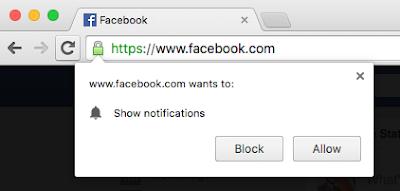 ç'est quoi notification push facebook