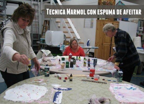 marmol, técnica, método, espuma de afeitar, manualidades, pintura