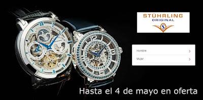 relojes de pulsera Stuhrling a la venta muy baratos
