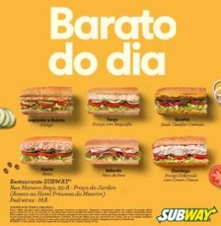 Promoção Subway 2018 Baratíssimo e Barato do Dia Estão de Volta
