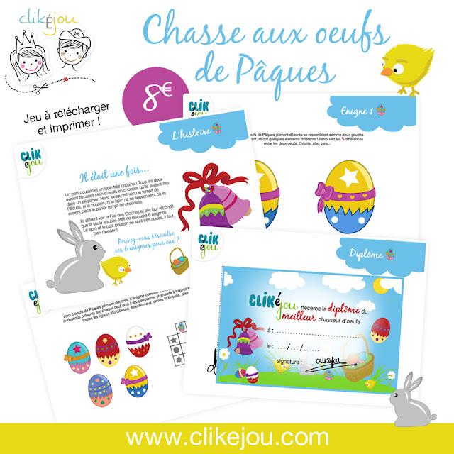 Chasse au trésor Pâques, à imprimer - 8€