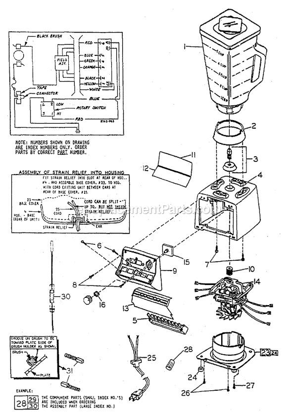 aro diagrama de cableado de vidrios con